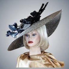 Audacious Audrey Hepburn-Style Big Brimmed Hat