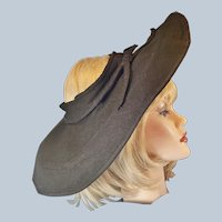 Avant Garde 1930's-40's Big, Beautiful Betmar Hat
