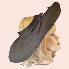 Avant Garde 1930's-40's Big, Beautiful Betmar Hat