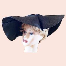 Avant Garde 1940's Big, Beautiful Brimmed Hat
