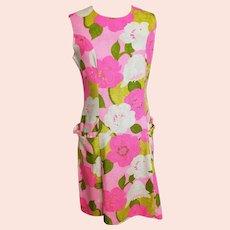 Bali Ha'i Bright, Beautiful, Bark-cloth 1970's Island Dress