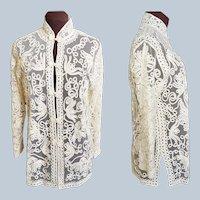 Battenberg Lace Asian Jacket