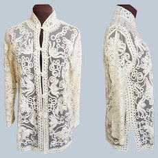Battenberg Lace Asian Jacket