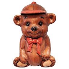 Batter-Up Cookie Jar, Teddy Bear Treasure Craft