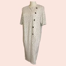 Blouson 1920's - 30's-Style Day Dress in Comfy Cotton