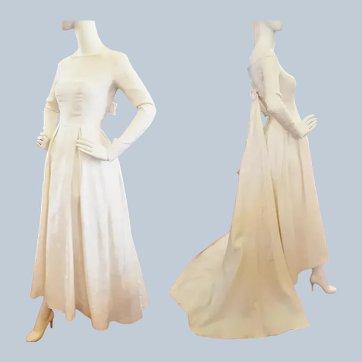 Brocade Beauty 1960's Wedding Gown