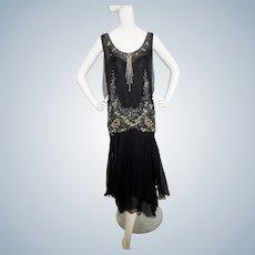 B. ALTMAN Bejeweled, Jazz Age Flapper Dress