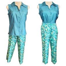 CASUAL Crop Pants & Blouse Set