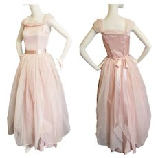 Cinderella Pink Dotted Swiss Gown