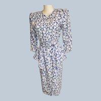 Classic 1940's-Style Perky Peplum Dress