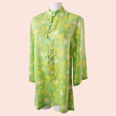 Cooooool, Shimmery, Summery 1970's Mini Dress/Tunic
