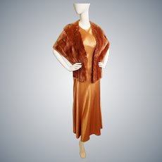 Copper 1930's Glamour Girl-Style Ensemble