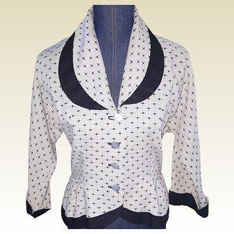 1940's Tailored Linen Jacket
