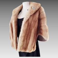 EMBA Pastel Natural Brown MINK Stole