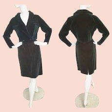 EMERALD Velvet Sophisticated 1960's Suit