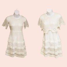 Edwardian Era Girl's Batiste Dress and Crop-Top