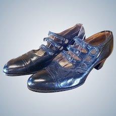 """Edwardian Era """"Titanic"""" Leather Shoes"""