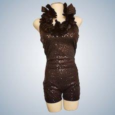 Fancy-Dancey Sequined Shorts ROMPER