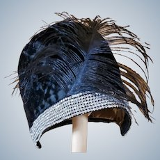 Flappers-Have-More-Fun CLOCHE 1920's Hat; HELÈNE MAURICE; Feathered;
