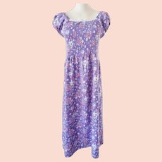 Flower-Power Mod MAXI 1970's Dress