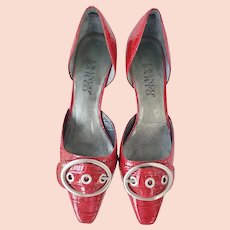 Franco Sarto Shiny RED Patent Leather Pumps