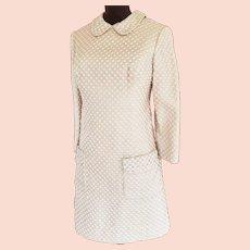 GOLD, Glittery, Glamorous 1970's MOD Dress