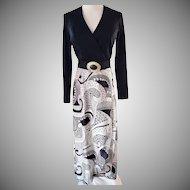 The GENERATION GAP of California Black 'n White 1960's Classic Dress