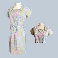 Geometric Gem of a DAY DRESS - 1960's