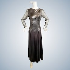 Ginger Rogers-Style Glamour Gown