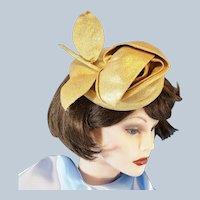 Hattie Carnegie Gold Lamé ROSE Hat