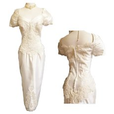 Hour Glass Wedding Dress - 1910's Style