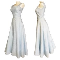 Iridescent Blue Ballroom Gown - 1950's Style