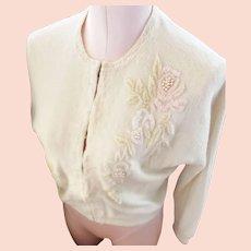 Jo-Ro Imports, Miami, Beaded Cardigan Sweater