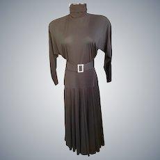 Joan Crawford-Style Hollywood Glitzy Glam Dress
