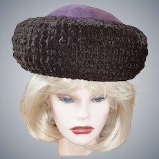 Laura Ashley Russian Cossack-Style Velvet Hat