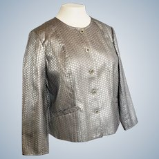 Laura Ashley Silver Gray Jacket, Sz XL