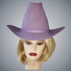 Lavender EDDY Western Felt Hat