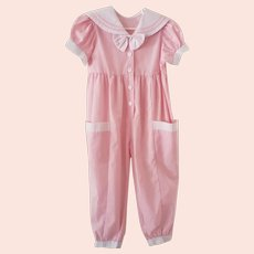 Lil Darlin' Pink & White Romper/Jump Suit