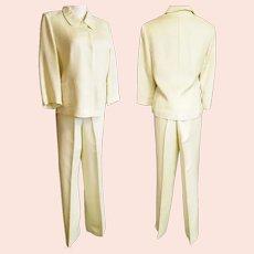 Linen Lime-Light Emma James Pant Suit - Mid-Century Style