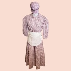 Little House on the Prairie-Style Girl's Dress & Hat