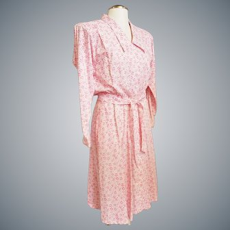 Lovely Liz Claiborne Pink Summer Shirtwaist Dress, Sz L