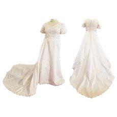 Lovely Satin Empire Waist Wedding Dress for the Curvy Bride