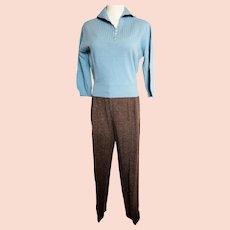 MAD MEN-Style Sweater & Slacks Set