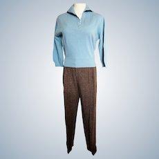 MAD MEN-Style Sweater & Slacks Set