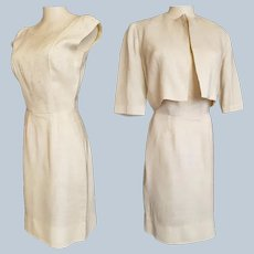 MAD MEN Era Linen Suit of Dress & Jacket