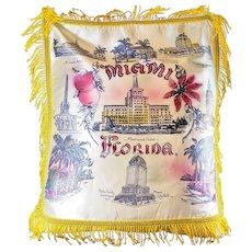 MIAMI Souvenir Satin Pillow Sham