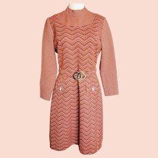 Mad Men-Style Mid-Century Knit Dress