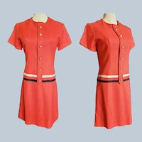 Mad Men RED Linen Chemise