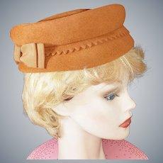 Mid-Century Copper-Colored Pill Box Hat