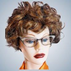 Mid-Century Silver Cat-Eye Glasses